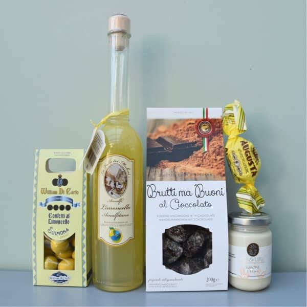 cadeaupakket limoncello | wijn van helene | luxe cadeaupakket | luxe wijncadeaus | wijnpakket | luxe cadeaupakketten
