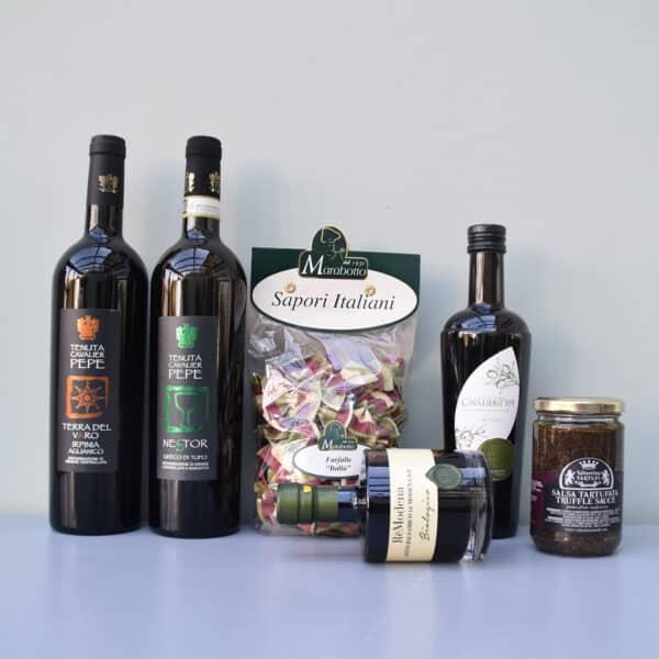 cadeaupakket tenuta del cavalier pepe   wijn van helene   luxe cadeaupakket   luxe wijncadeaus   wijnpakket   luxe cadeaupakketten