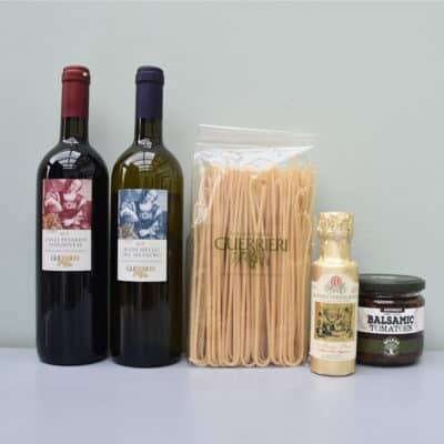 cadeaupakket guerrieri | wijn van helene | luxe cadeaupakket | luxe wijncadeaus | wijnpakket | luxe cadeaupakketten
